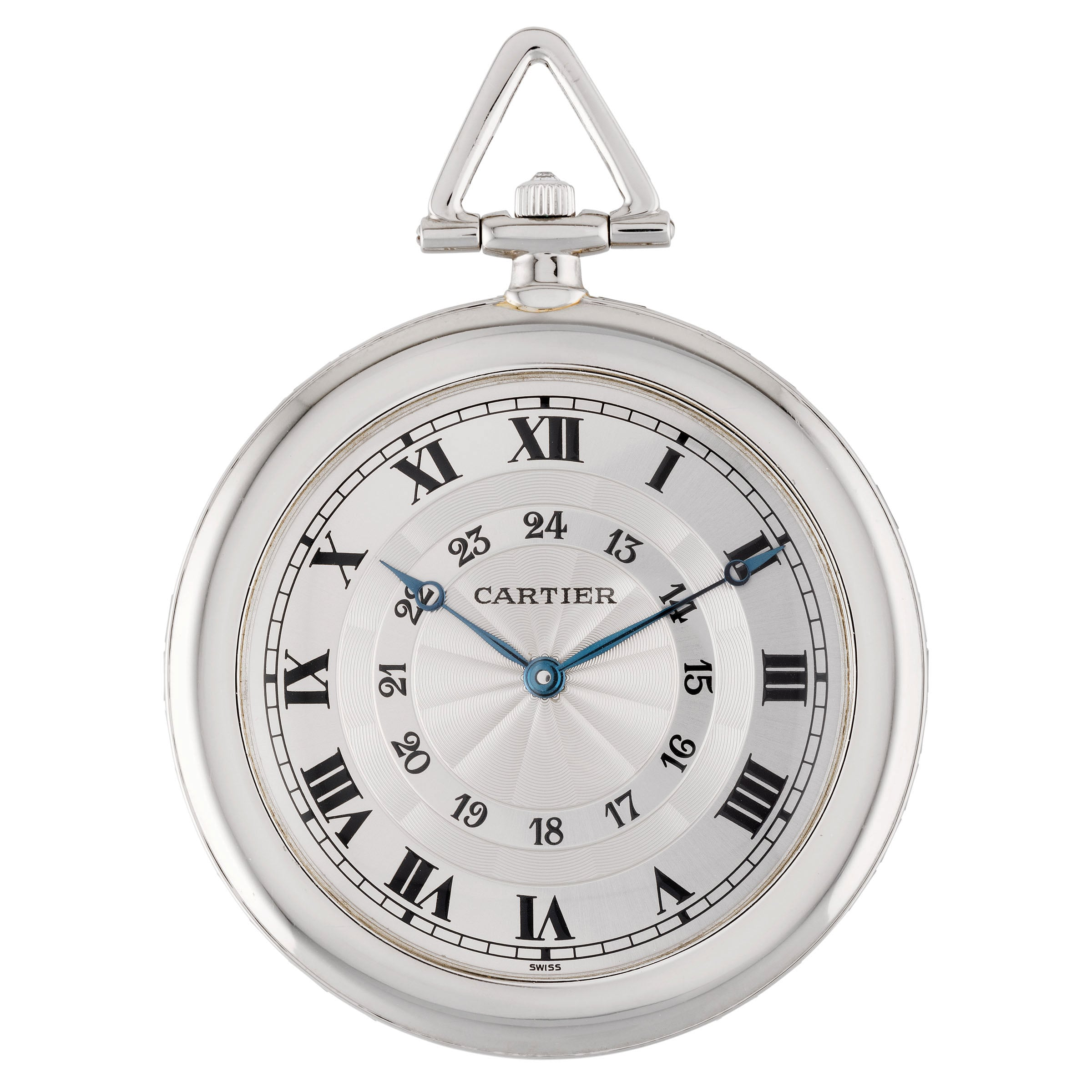 Silver Coloured Clock Chapter Ring With Roman Numerials